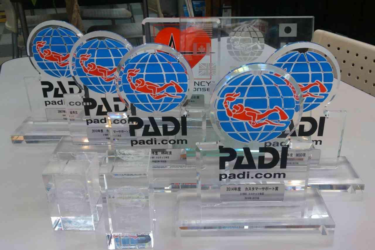 2021年発表 PADI AWARD 25年連続表彰記録更新中