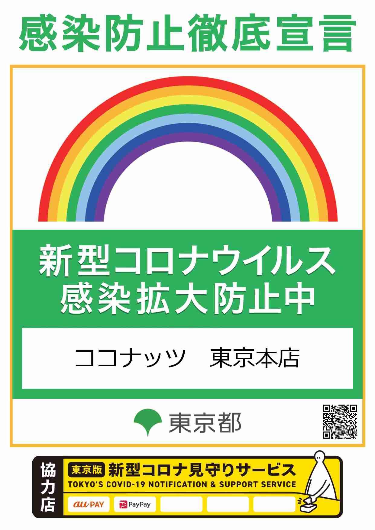 東京都感染拡大防止ステッカー取得