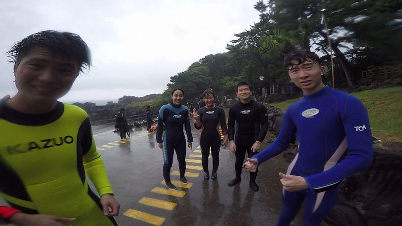 雨の日のダイビング
