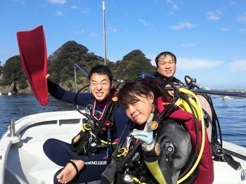 西伊豆で受講はボートダイビング